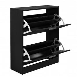 Botník - 63 x 24 x 81 cm - čierny