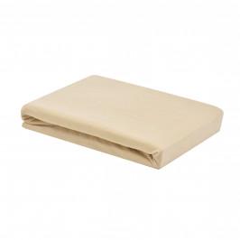 Jersey elastická plachta (90-100 x 200 cm) béžová