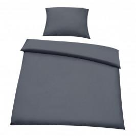 Posteľná bielizeň (na prikrývku + vankúš) - tmavo sivá - 135x200