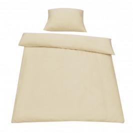 Posteľná bielizeň (na prikrývku + vankúš) - béžová - 135x200