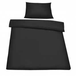 Posteľná bielizeň (na prikrývku + vankúš) - čierna - 155x200
