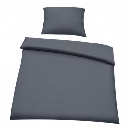 Posteľná bielizeň (na prikrývku + vankúš) - tmavo sivá - 155x200