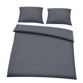 Posteľná bielizeň (na prikrývku + 2 vankúše) - tmavo sivá - 200x200