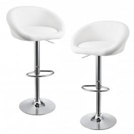 Sada barových stoličiek - 2 ks - biele