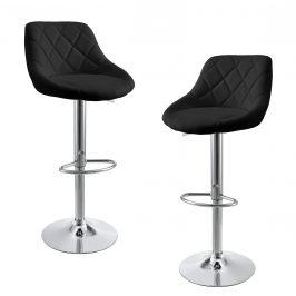 Sada barových stoličiek - 2 ks - čierne