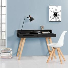 [en.casa] Kancelársky stôl zo stoličkou - 85cmx110cmx60cm - čierny
