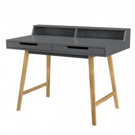 [en.casa] Kancelársky stôl - 85cmx110cmx60cm - sivý