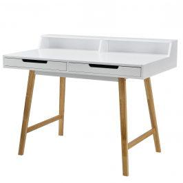 [en.casa] Kancelársky stôl - 85cmx110cmx60cm - biely