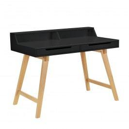 [en.casa] Kancelársky stôl - 85cmx110cmx60cm - čierny