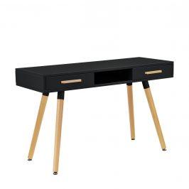 Dizajnový stôl so stoličkou - čierna