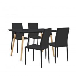 Dizajnový jedálenský stôl - 120 x 70 cm - čierny