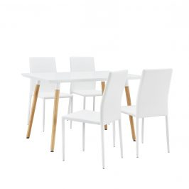 Dizajnový jedálenský stôl - 120 x 70 cm - biely