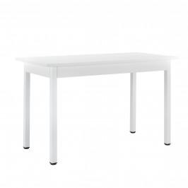 Štýlový dizajnový jedálenský stôl - 120 cm x 60 cm x 75 cm - biely