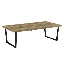 Moderný konferenčný stolík - MDF doska - kovový rám - imitácia dreva - 110 x 60 x 35 cm