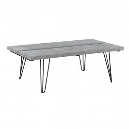 Moderný konferenčný stolík - MDF doska - kovový rám - imitácia betónu - 100 x 60 x 35 cm
