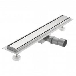 Nerezový podlahový žľab – moderný odtok do sprchy - oceľový kryt -  (60x7cm)