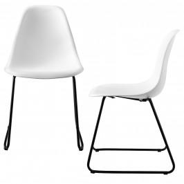 Dizajnové stoličky 2-dielna sada - 82 x 46,5cm - biele