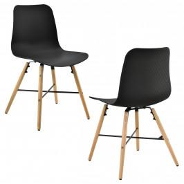 Dizajnová stolička - 2 ks sada - 80 x 44,5 cm - čierna