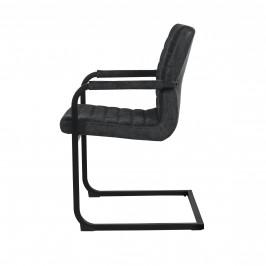 Designová stolička - 2 ks - 86,5 x 60 cm - čierna