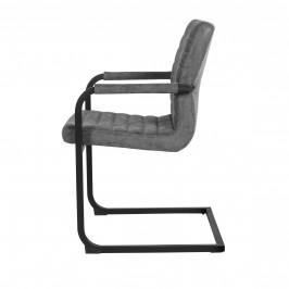 Designová stolička - 2 ks - 86,5 x 60 cm - sivá