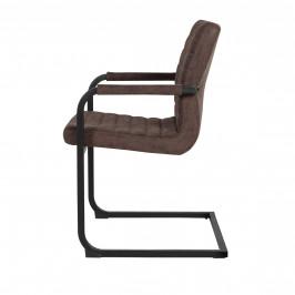 Designová stolička - 2 ks - 86,5 x 60 cm - tmavo hnedá
