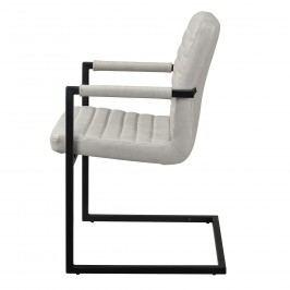Designová stolička - 6 ks - 86,5 x 60 cm - bielosivá