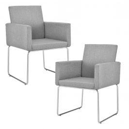 Dizajnová stolička - 2 ks sada - 82,5 x 54 cm - svetlo sivá