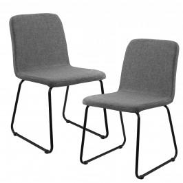Sada dizajnových stoličiek - 2 kusy - 81 x 44 cm - sivé