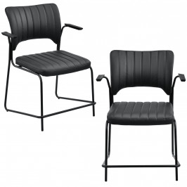Sada kancelárskych stoličiek - 2 ks - čierne