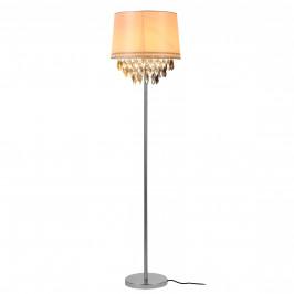 Elegantná stojaca lampa - Royality 1 x E 27 - 60W - biela / chrómová