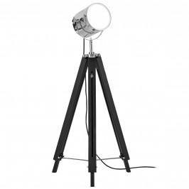 Elegantná stojaca lampa - Tripod 1 x E 27 - 60W - chrómová / čierna