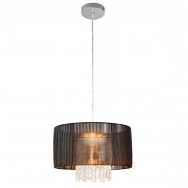 Dekoratívna dizajnová design závesná lampa / stropná lampa - čierna-chromová (1 x E27)