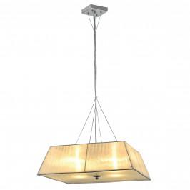 Dekoratívna dizajnová design závesná lampa / stropná lampa - biela (4 x E14)
