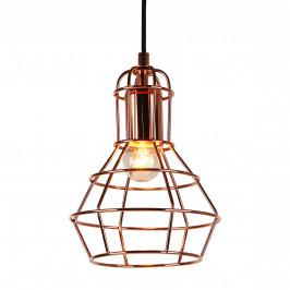 Dekoratívna dizajnová design závesná lampa / stropná lampa - meď (1 x E27)
