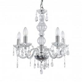 Elegantný luster – päťramenná stropná lampa – 5 x E14 - chrómová