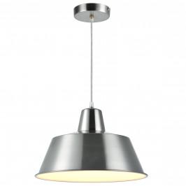 Dekoratívna dizajnová design závesná lampa / stropná lampa - strieborno-biela (1 x E27)