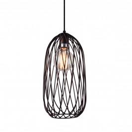 Dekoratívna dizajnová design závesná lampa / stropná lampa - bronz (1 x E27)
