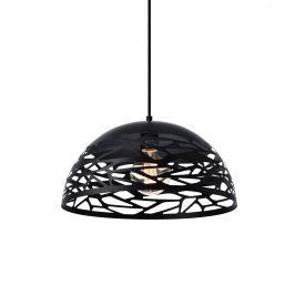 Dekoratívna dizajnová design závesná lampa / stropná lampa - čierna (1 x E27)