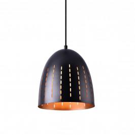 Dekoratívna dizajnová design závesná lampa / stropná lampa - čierna / meď (1 x E27)