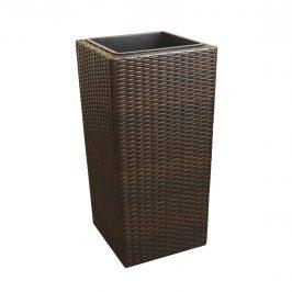Pletený kvetináč - 26x26x50cm - hnedý