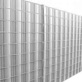 Dekoratívna clona - 35 m x 19 cm - strieborná