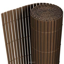 [neu.holz]® Plastové rákosie na plot - 150 x 300 cm - hnedé