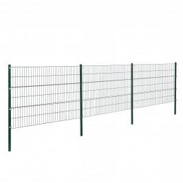 Panelový systém oplotenia - panely so stĺpikmi - tmavo zelený - 6 x 1,2 m