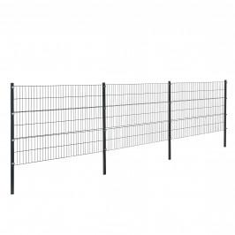 Panelový systém oplotenia - panely so stĺpikmi - antracit - 6 x 1,2 m