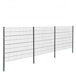 Panelový systém oplotenia - panely so stĺpikmi - antracit - 6 x 1,6 m