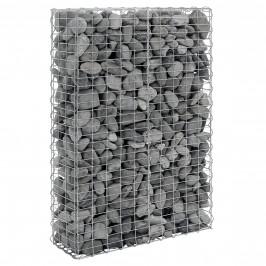 Gabión - 150 x 100 x 30 cm - šedá / strieborná