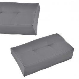 Paletový nábytok - rohový vankúš - 60 x 40 x 20/10 cm - svetlo sivý
