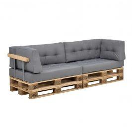 Paletový nábytok - vankúšová sada - svetlo sivá