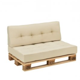 Paletový nábytok - vankúšová sada - béžová
