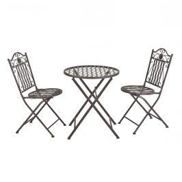 Bistro sada - okrúhly stôl + 2 stoličky - zelená
